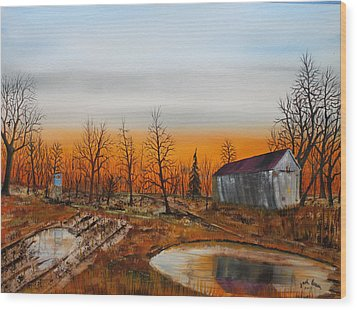 Memory Reflections Wood Print by Jack G  Brauer