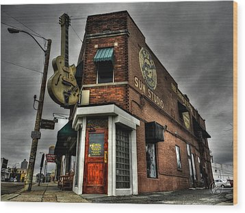 Memphis - Sun Studio 002 Wood Print by Lance Vaughn