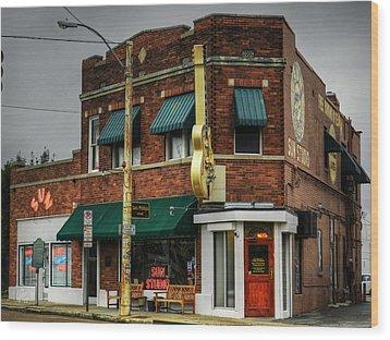 Memphis - Sun Studio 003 Wood Print by Lance Vaughn