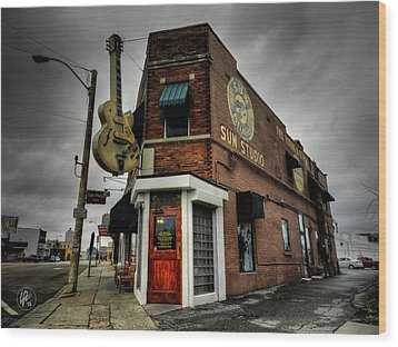 Memphis - Sun Studio 004 Wood Print by Lance Vaughn