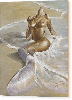 Mermaid Wood Print by Karina Llergo