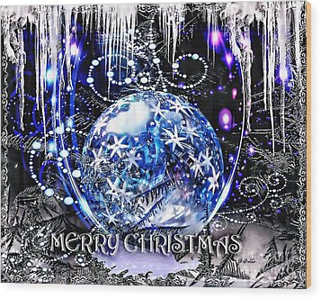 Merry Christmas Wood Print by Mo T
