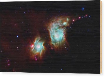 Messier 78 Star Formation Wood Print by The  Vault - Jennifer Rondinelli Reilly