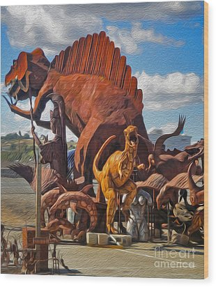 Metal Dinosaurs - 05 Wood Print by Gregory Dyer