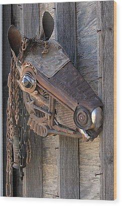 Metal Oops Wood Print by Peggi Bell