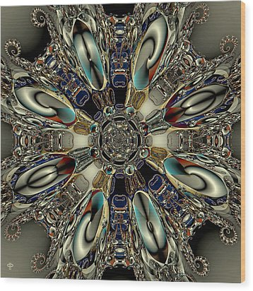 Metallegattica Wood Print by Jim Pavelle