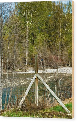Methow River Springtime Wood Print by Omaste Witkowski