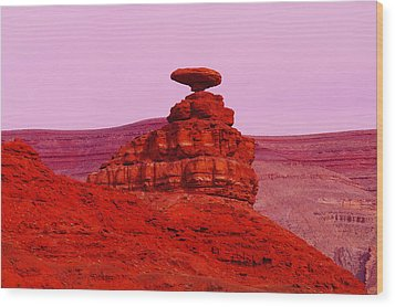 Mexican Hat  Wood Print by Jeff Swan