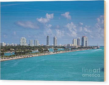 Miami Beach Skyline Wood Print by Rene Triay Photography