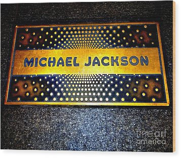 Michael Jackson Apollo Walk Of Fame Wood Print by Ed Weidman