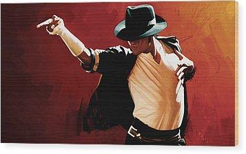 Michael Jackson Artwork 4 Wood Print by Sheraz A