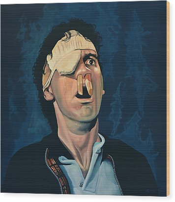 Michael Palin Wood Print by Paul Meijering