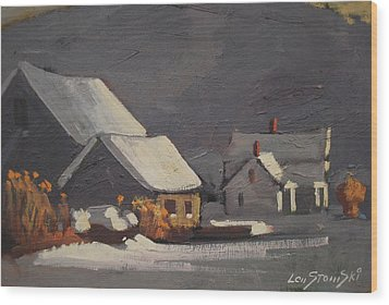 Michalski Farm Wood Print by Len Stomski