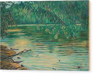 Mid-spring On The New River Wood Print by Kendall Kessler
