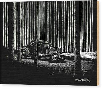 Midnight Run Wood Print by Bomonster
