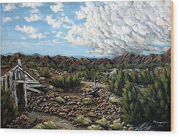 Mining Nevada Wood Print by Julie Townsend