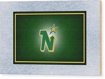 Minnesota North Stars Wood Print by Joe Hamilton