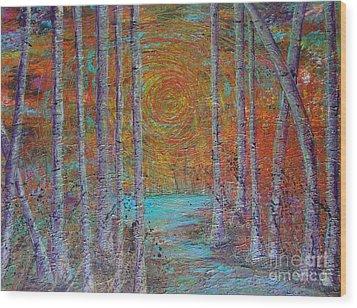 Minnesota Sunset Wood Print by Jacqueline Athmann