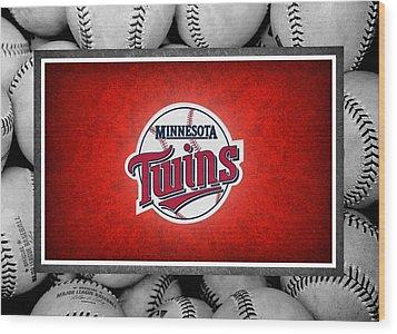 Minnesota Twins Wood Print by Joe Hamilton