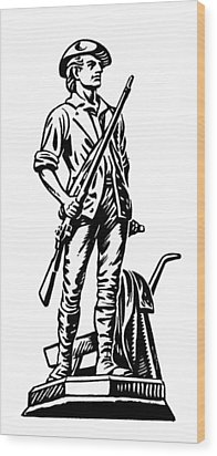 Minutemen Wood Print by Granger
