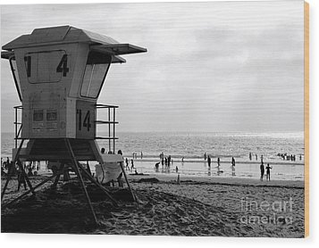 Mission Beach San Diego Wood Print by David Gardener