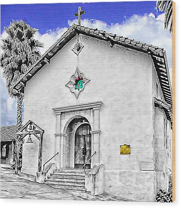 Mission San Rafael Arcangel Wood Print by Ken Evans
