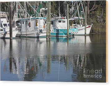 Mississippi Boats Wood Print by Carol Groenen