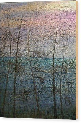 Mist Fantasy Wood Print by Rick Silas