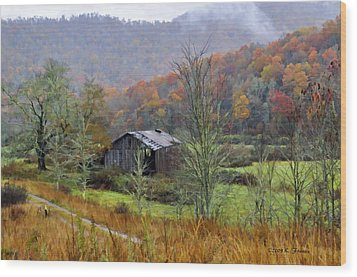 Misty Morn Wood Print by Kenny Francis