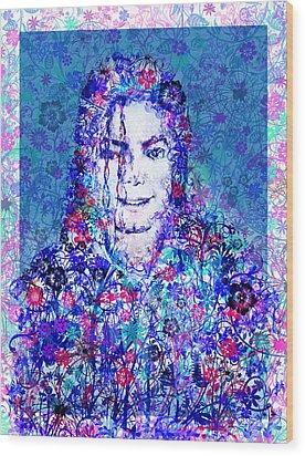 Mj Floral Version 2 Wood Print by Bekim Art