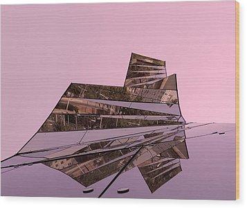 Modern Reflections ... Wood Print by Juergen Weiss