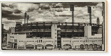 Modern Retro Pnc Park Exterior Wood Print by Gary Cain