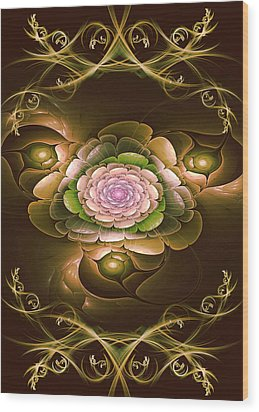 Mom's Flower Wood Print by Phil Clark