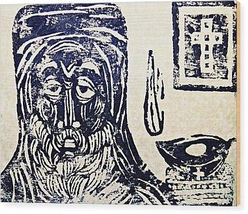 Monk 5 Wood Print by Sarah Loft