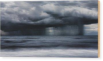 Monsoon Wood Print by Matt Dobson