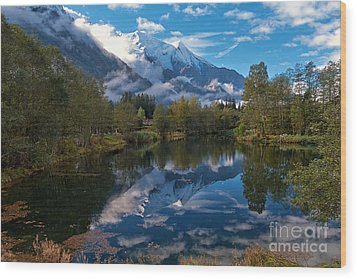 Mont Blanc Massiv Wood Print by Juergen Klust