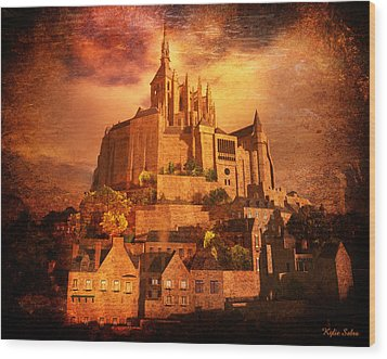 Mont Saint-michel Wood Print by Kylie Sabra