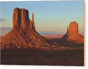 Monument Valley 2 Wood Print by Ayse Deniz