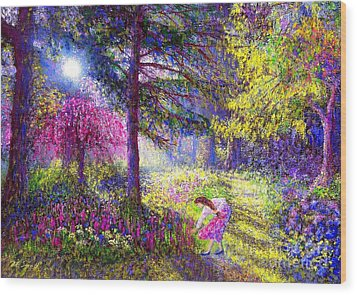 Morning Dew Wood Print by Jane Small