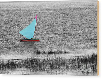 Morning Sail Wood Print by James Brunker