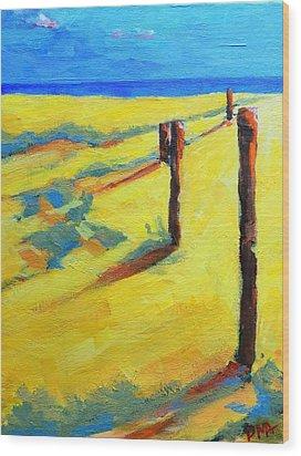 Morning Sun At The Beach Wood Print by Patricia Awapara
