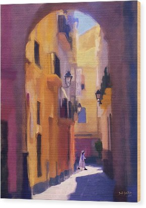 Moroccan Light Wood Print by Bob Galka