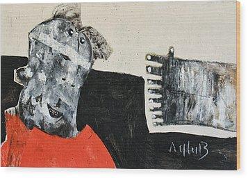 Mortalis No 19 Wood Print by Mark M  Mellon