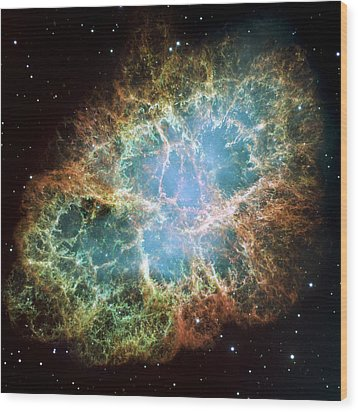 Most Detailed Image Of The Crab Nebula Wood Print by Adam Romanowicz