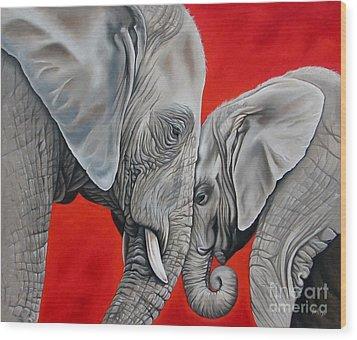 Mothers Love Wood Print by Ilse Kleyn