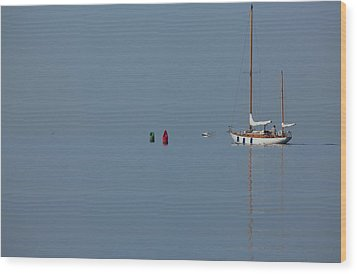Motoring Sail Wood Print by Karol Livote