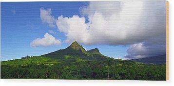 Mount Olomana Hawaii Wood Print by Kevin Smith