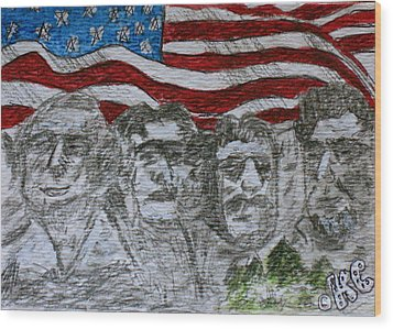 Mount Rushmore Wood Print by Kathy Marrs Chandler