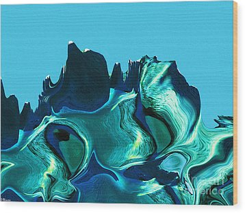 Mount Strength-night Wood Print by David Winson