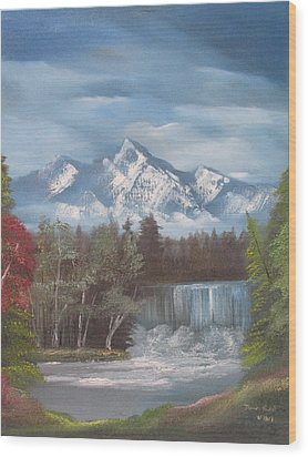 Mountain Dreams Wood Print by Dawn Nickel